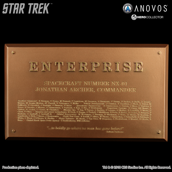 STAR TREK™: ENTERPRISE Starship Enterprise NX-01 Collectible Dedication Plaque Replica