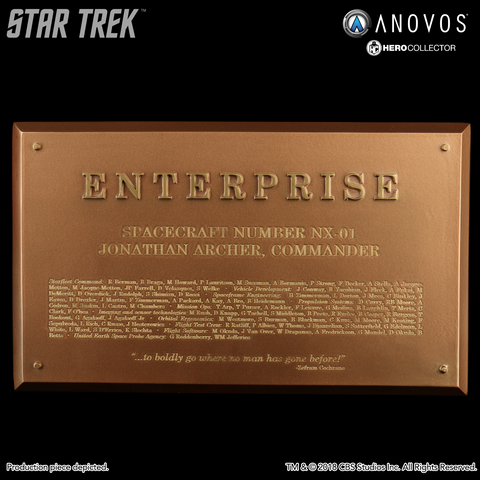 STAR TREK™: ENTERPRISE Starship Enterprise NX-01 Collectible Dedication Plaque Replica (Reservation)