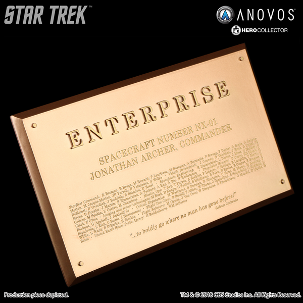 STAR TREK™: ENTERPRISE Starship Enterprise NX-01 Collectible Dedication Plaque Replica (Winter 2018 Reservation)