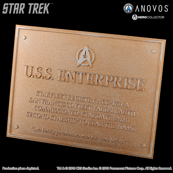 STAR TREK™: THE UNDISCOVERED COUNTRY U.S.S. Enterprise NCC-1701-A Collectible Dedication Plaque Replica