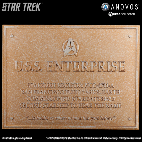 STAR TREK™: THE UNDISCOVERED COUNTRY U.S.S. Enterprise NCC-1701-A Collectible Dedication Plaque Replica (Reservation)