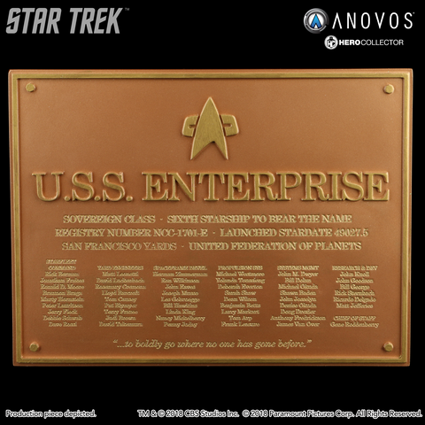 STAR TREK™: FIRST CONTACT U.S.S. Enterprise NCC-1701-E Collectible Dedication Plaque Replica