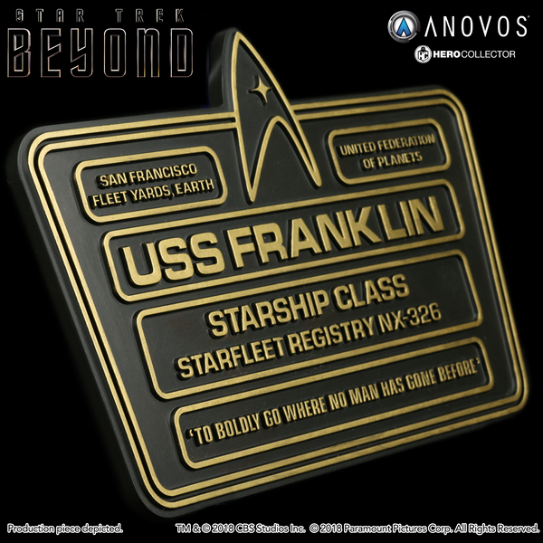 STAR TREK™: BEYOND U.S.S. Franklin NX-326 Collectible Dedication Plaque Replica