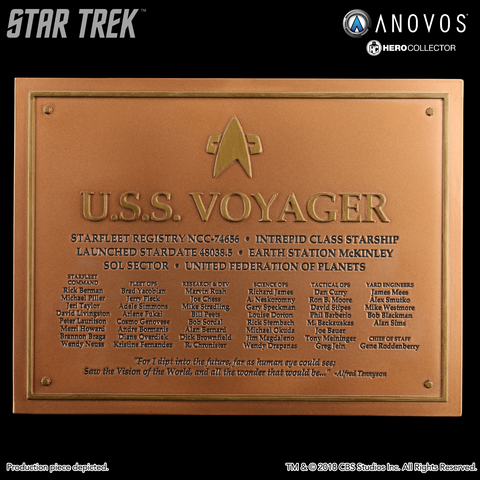 STAR TREK™: VOYAGER U.S.S. Voyager NCC-74656 Collectible Dedication Plaque Replica (Reservation)