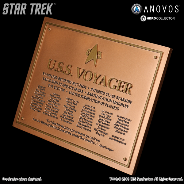 STAR TREK™: VOYAGER U.S.S. Voyager NCC-74656 Collectible Dedication Plaque Replica