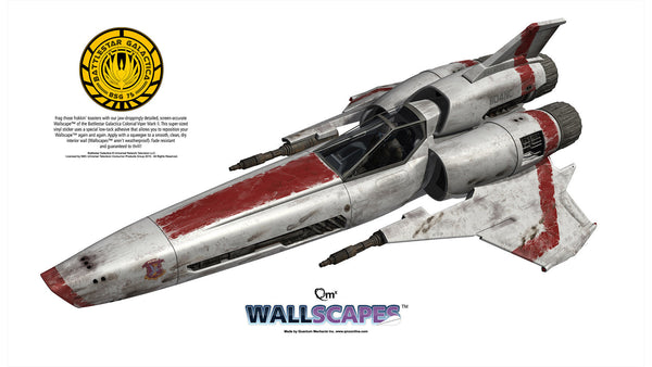 "BATTLESTAR GALACTICA Viper Mark II Wallscape™ 48"" Wall Decal"