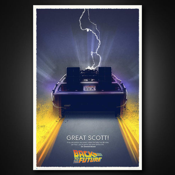 "BACK TO THE FUTURE ""Great Scott!"" Art Print"