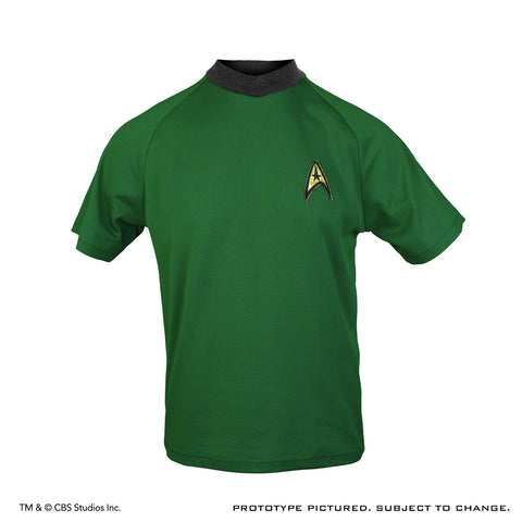 STAR TREK: THE ORIGINAL SERIES Shore Leave Collection Starfleet Uniform Shirt (Capt. Kirk Command Green Variant) - Size Small