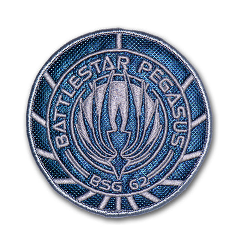 Battlestar Galactica Patch - BSG 62 Pegasus (Screen-Accurate Silver Variant)