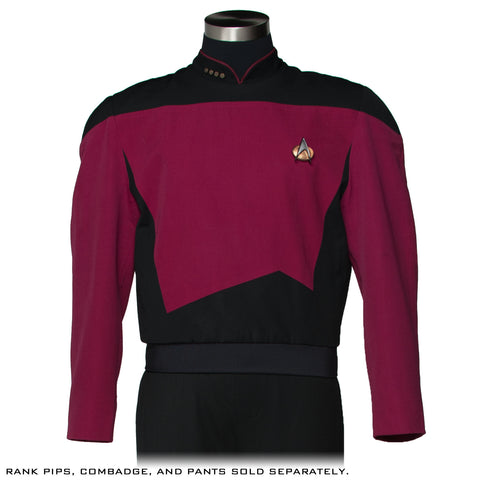 Star Trek: The Next Generation Command Burgundy Uniform Tunic - Premier Line