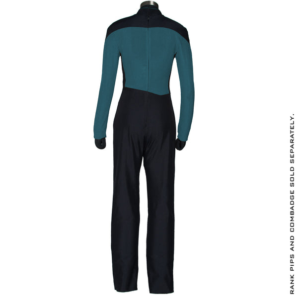 Star Trek: The Next Generation Women's Sciences Green Teal Uniform Jumpsuit - Size Large