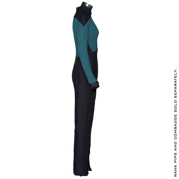 Star Trek: The Next Generation Women's Sciences Green Teal Uniform Jumpsuit