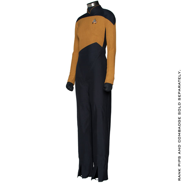 Star Trek: The Next Generation Women's Services Mustard Uniform Jumpsuit