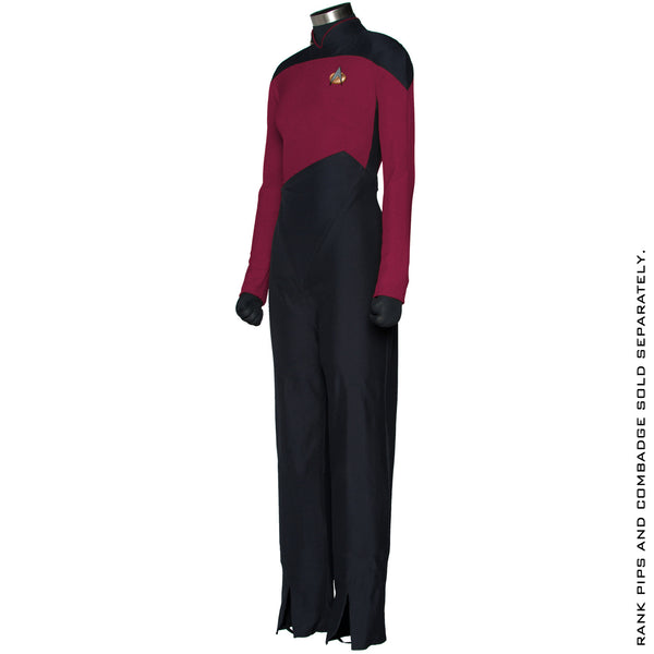 Star Trek: The Next Generation Women's Command Burgundy Uniform Jumpsuit