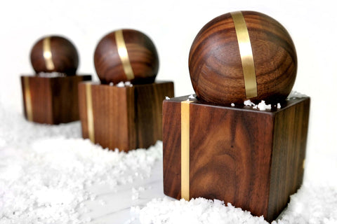 Salt Cellar With Match Pewter Spoon The Wooden Palate