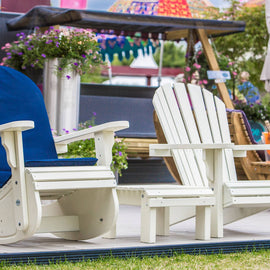 Adirondack Chair and Rocker painted white