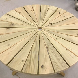 Sunshine 100 cm Round Table plus 2 Elli Chairs