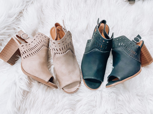 THE BETSY BOOTIES- 2 COLORS!