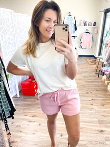 LAZY DAY LOUNGE SHORTS - 2 COLORS