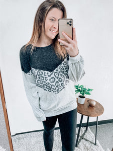 SHADES OF GREY CHEVRON LONG SLEEVE