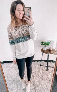SPOTTED LEOPARD PULLOVER