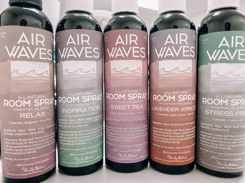 AIR WAVES NATURAL ROOM SPRAYS- COUNTRY BATH HOUSE