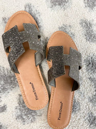 HOLLYWOOD SANDAL-PEWTER