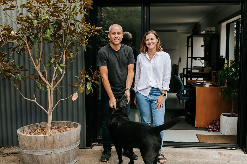 Woodruff and Co founders, Bec and Simon.