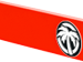Red with Black and White Emblem