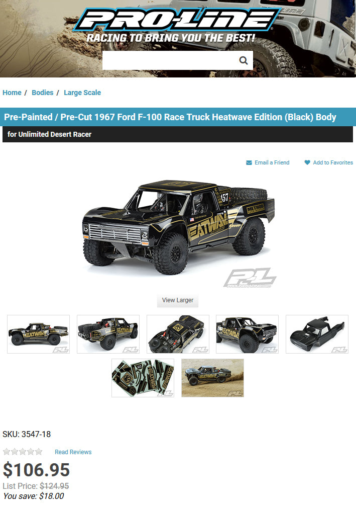 Heat Wave Visual Pro Line RC car