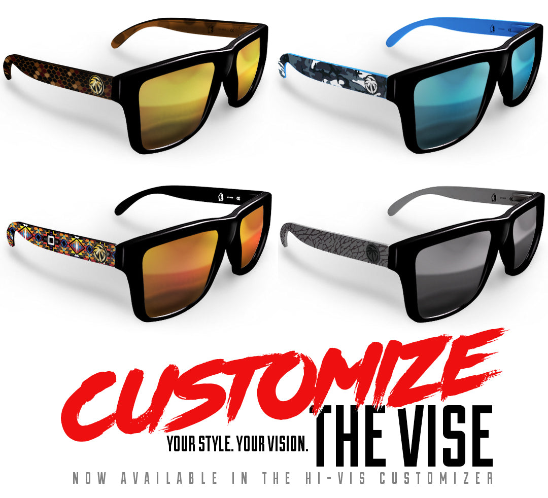 Customize the VISE sunglasses by Heat Wave Visual