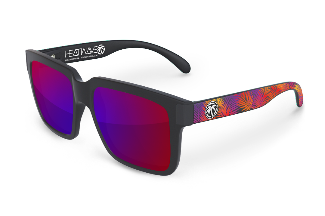 Continental Sunglasses Black: Neon Palm Customs