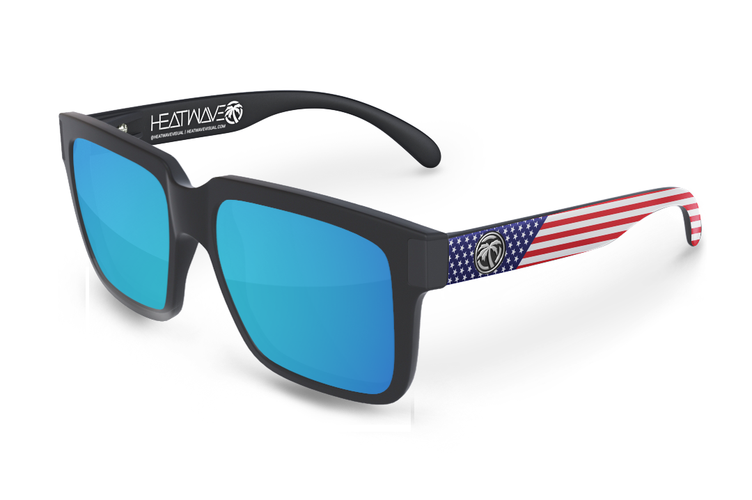 Continental Sunglasses Black: Stars and Stripes USA Customs