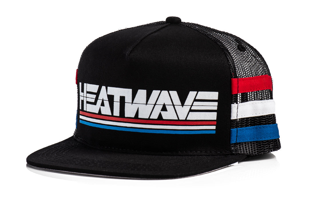 HWV Retro Stripe RWB Trucker Hat