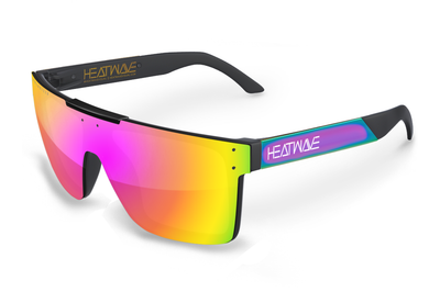Quatro Sunglasses: Neon Chrome Metal Customs