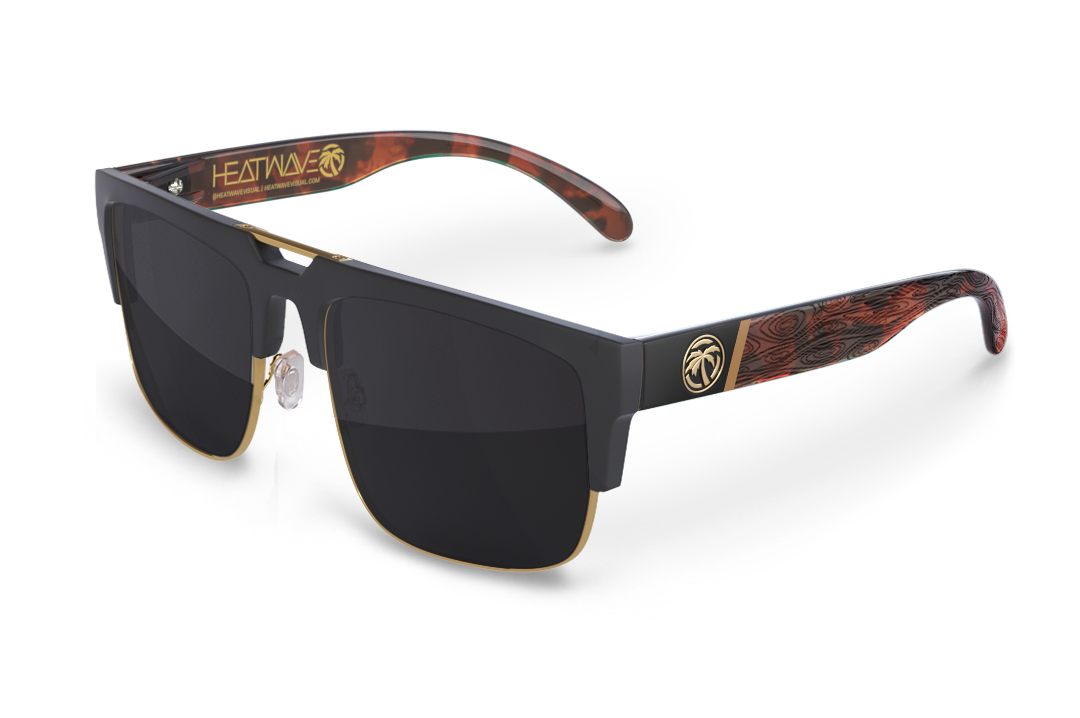 Interceptor 2.0 Sunglasses Gold: Woodgrain Customs