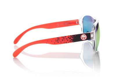Customizable Sunglasses: Red Splatter Arms | Heat Wave Sunglasses