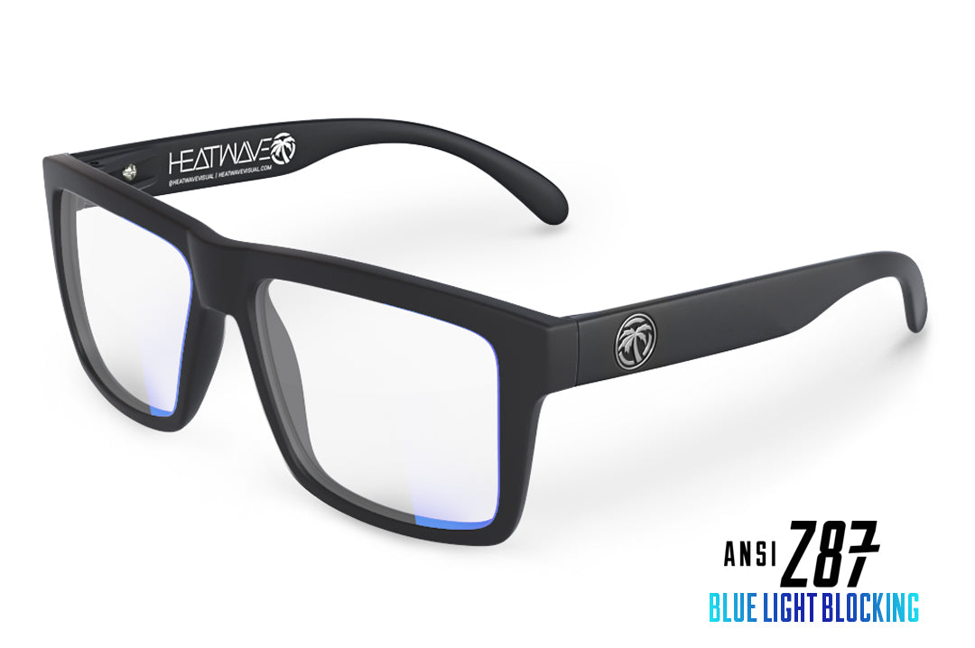 VISE Z87 Sunglasses Black Frame: Blue Light Blocking Lens
