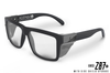 VISE Z87 Sunglasses Black Frame: CLEAR Lens