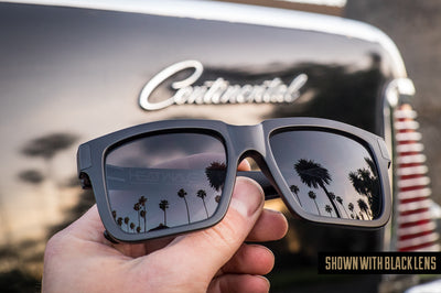 Continental Sunglasses: BLACK/BLACK
