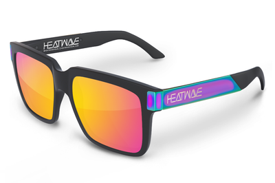 Continental Sunglasses: BLACK/NEON