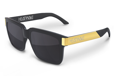 Continental Sunglasses: BLACK/GOLD