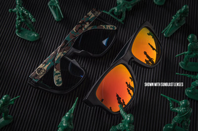 Cruiser Sunglasses: Woodland Camo Customs