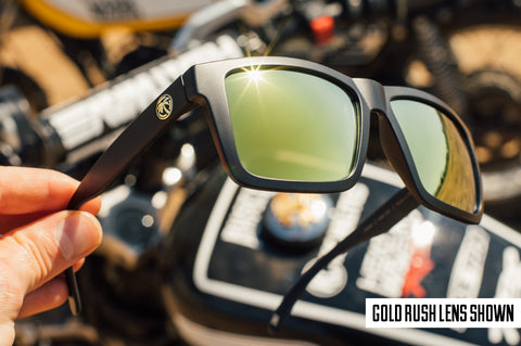 Lazer Face Sunglasses: Gold Rush Z.87+
