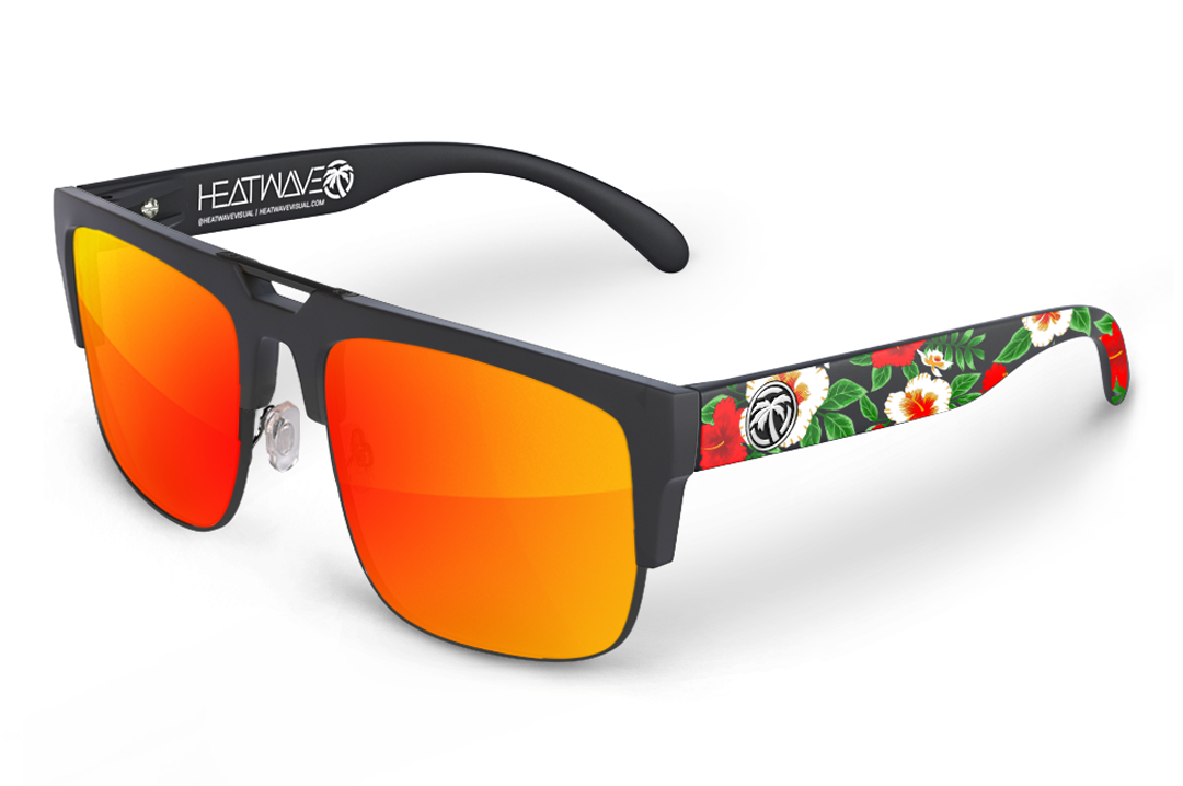 Interceptor 2.0 Sunglasses Black: Hawaiian Print Customs