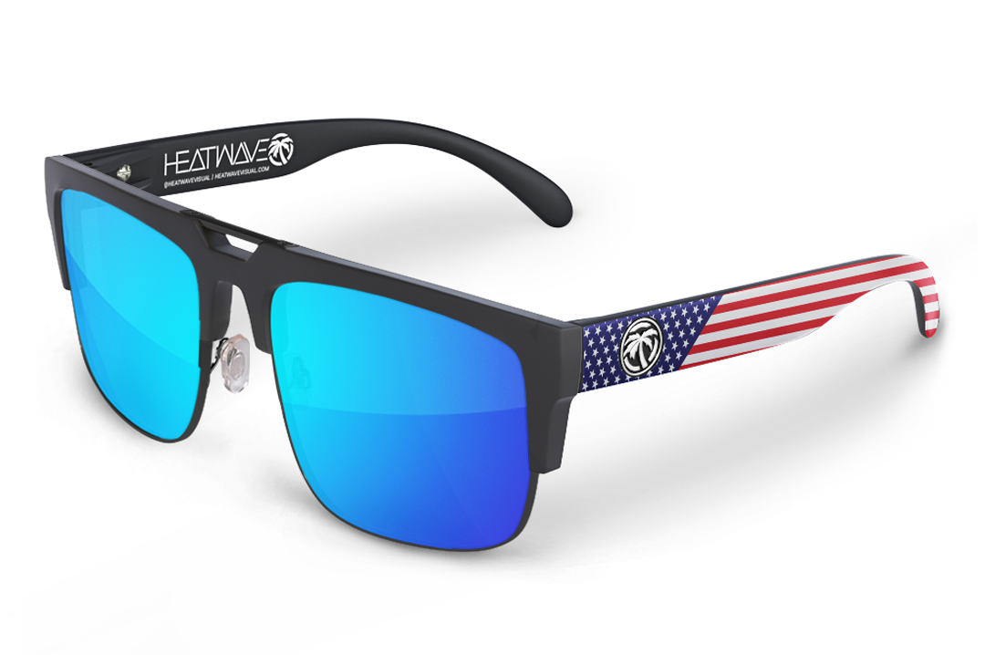 Interceptor Sunglasses Black: Stars and Stripes  USA Customs