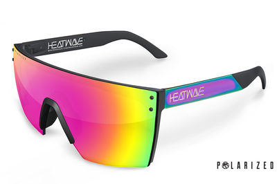 Lazer Face Sunglasses: Neon Chrome Metal Customs