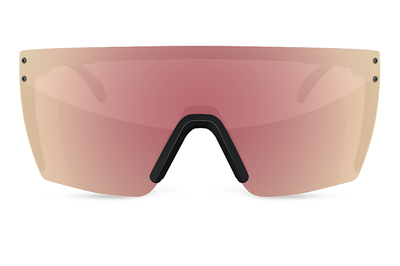 Lazer Face Sunglasses: Rose Gold Z.87