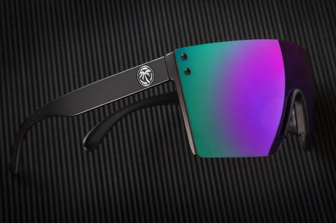 Lazer Face Sunglasses: Ultra Violet Z.87+ w/Black Frame