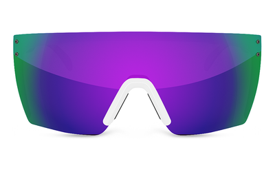 Lazer Face Sunglasses: White Frame Jet Ski Customs